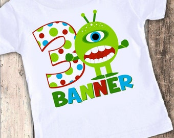 Monster custom designed birthday t shirt tshirt personalized