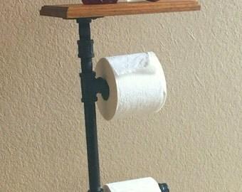 Toiletpapier rek etsy - Rustieke wc ...