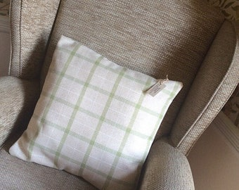 Green Check Cushion Cover