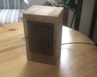 Light cube oak vintage