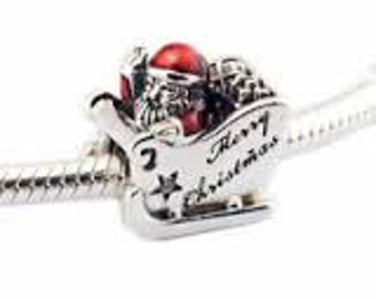 Pandora Charms Authentic Sleighing Santa Charm Christmas