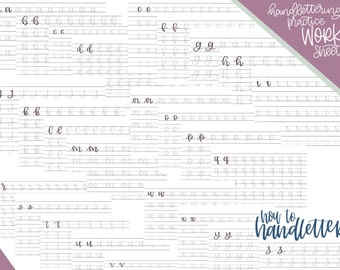 brush pen calligraphy practice sheets pdf