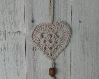 Cute little Crochet heart hanger