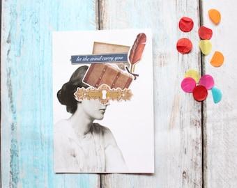 Virginia Woolf collage sheet