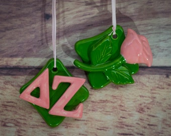 Delta Zeta Ornament Set