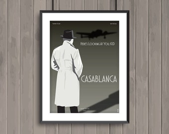 CASABLANCA, minimalist movie poster