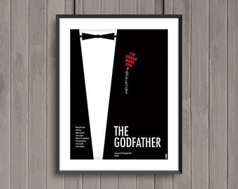 THE GODFATHER, minimalist movie poster