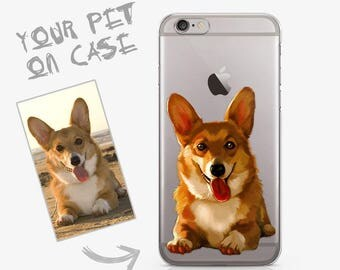 Custom Case Personalised Phone Case for iPhone 7 Case iPhone 6s  iPhone 6s Plus For Galaxy S6 Samsung s8 illustrated Dog Pet ACC_000