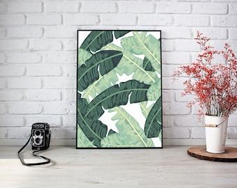 Tropical Banana Leaf Digital Print