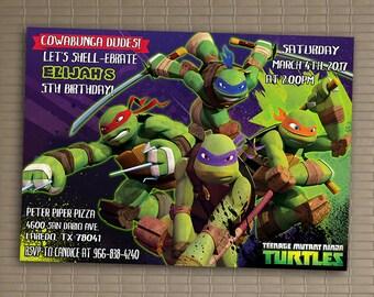 Ninja Turtles Invitations Teenage Mutant Ninja Turtles