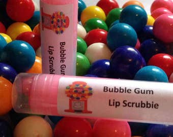 Bubble Gum Luxury Lip Scrubbie, Lip Polish, Sugar Scrub