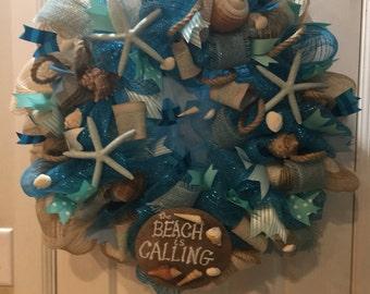 "Price reduction  Beach wreath 24-26"""
