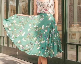 Secret Garden Midi Skirt