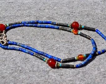 Lapis Lazuli and Carnelian Choker