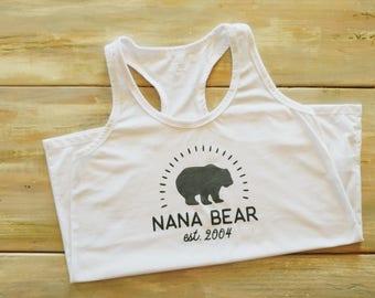 Nana bear shirt, nana shirt, momma bear shirt, momma shirt, bear shirt custom shirt, gift for mom, gift for grandma, established shirt