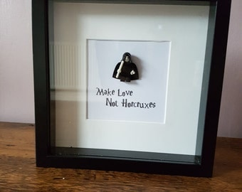 Shadow Box Frame//Harry Potter//Minifigure//Voldermor//Horcrux//Gift//Engagement//Birthday//Anniversary//Love//Personalise//Geek