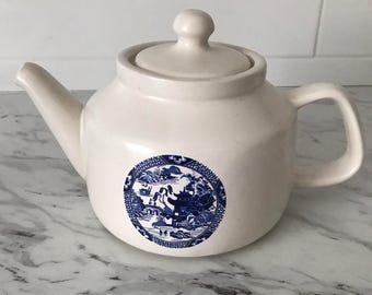 McCOY BLUE WILLOW Teapot - Vintage