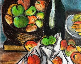 Still Life after Paul Cezanne, original painting by Paul Cecanne