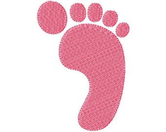 Baby Foot Embroidery Design
