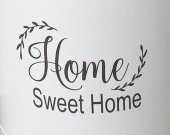 Home Sweet Home Decal Home Sweet Home Vinyl Home Sweet Home Wall Sticker