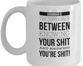 funny office mugs. unique funny grammar mug  english teacher hilarious mugs gifts  sarcastic coffee on funny office