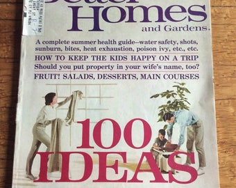 Vintage Better Homes & Gardens Magazine July 1964 Decorating Issue, for the Brady Bunch House Look