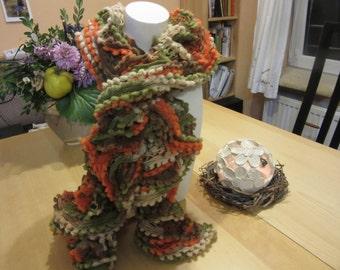 Effect yarn scarf