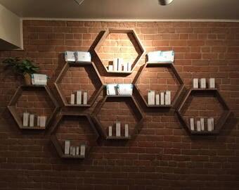 Hexagon Honeycomb Shelves (PRICED PER SHELF)