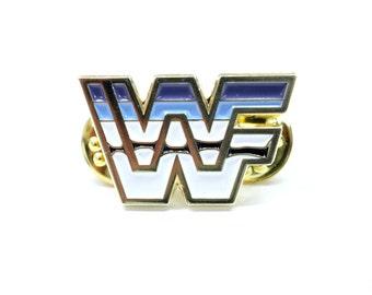WWF Wrestling Pin - Golden Era logo