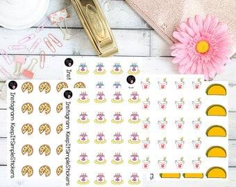Lil'Bits Food Hand Drawn Planner Stickers