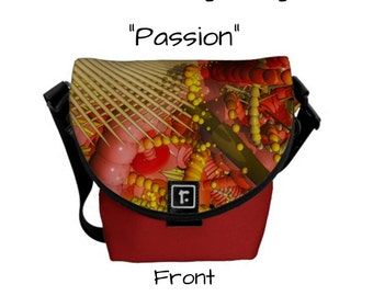 Handmade Mini Messenger Bag - Made In America - Alt-Handbag, Alt-Pocketbook, Alt-Purse