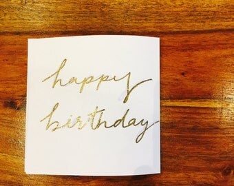 Happy Birthday, Gold Embossed card