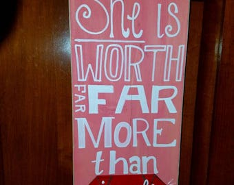 Decorative signs, hand painted, any personalization. Made to order, prices and sizes vary according to your wishes!