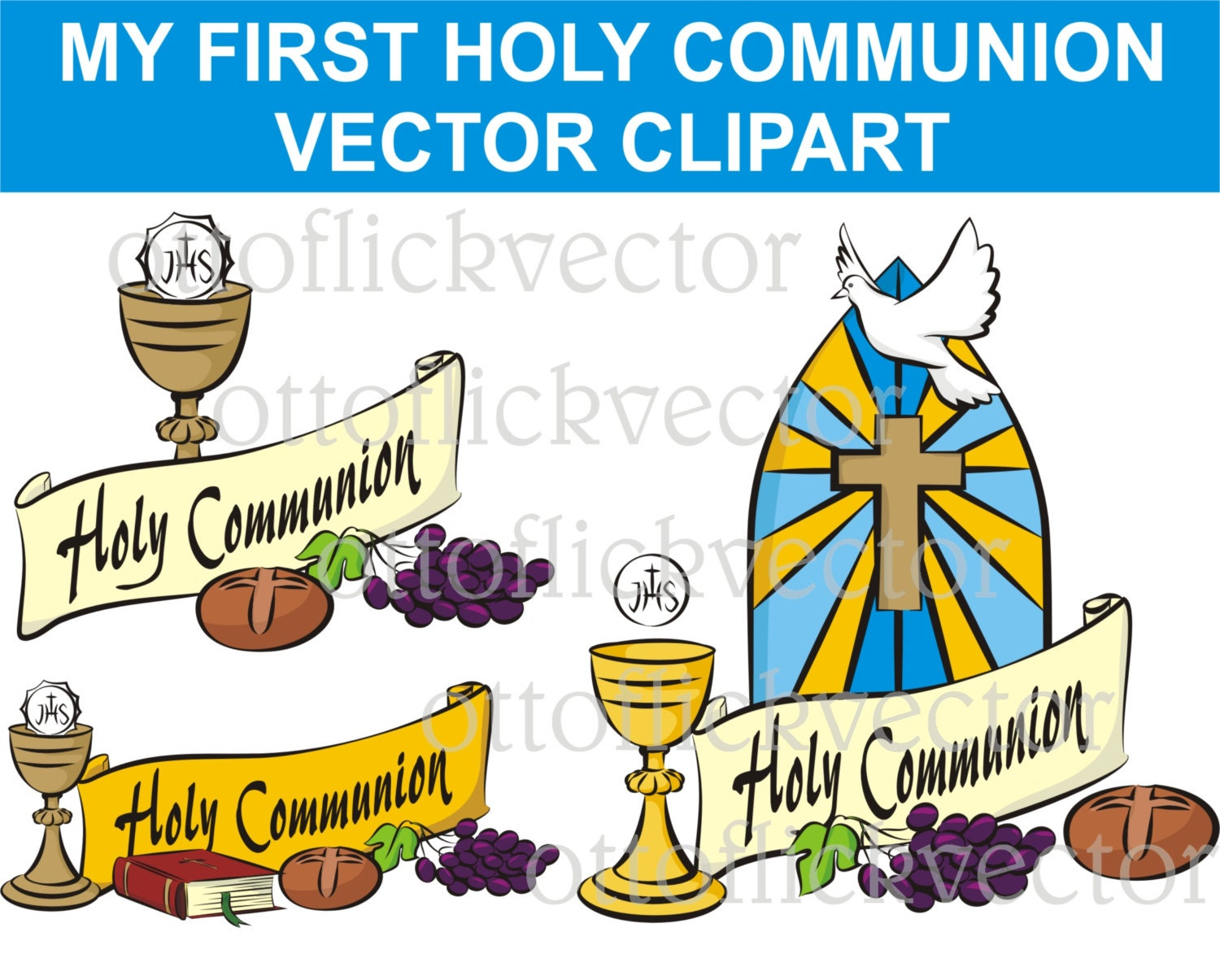 My first holy communion vector clipart religion symbols eps ai this is a digital file biocorpaavc