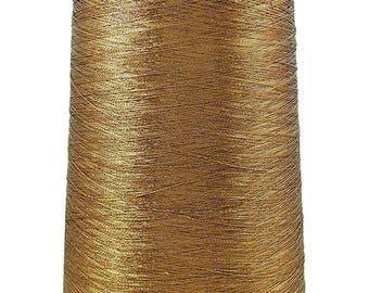 Gold Thread, 1 Pcs Big Thread Spool, Polyester Thread, Sewing Quilting Thread, Metallic Gold Embroidery Thread, MT211B
