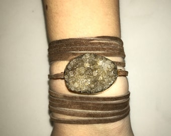Grey/Brown and Brown Wrap