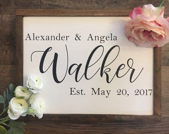 Customized Last Name//Wood Sign//Bridal Gift//Wedding Gift