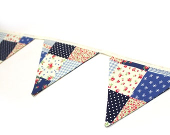 Handmade Fabric Bunting - Various Colours