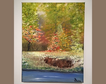 Original Paintings Oil On Canvas Landscape, Small Oil On Canvas, Small Landscape Painting Wall Decor, Marcia Chase,