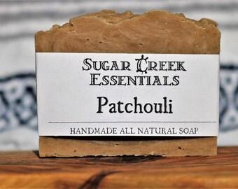 Handmade Natural Organic Soap, Patchouli Soap Bar