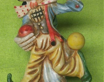 Fontanini Clown from Italy with Marble base.