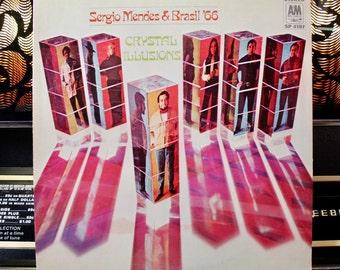 JAZZ RECORD - Sergio Mendes & Brasil '66 - Crystal Illusions: Rare Vintage Bossa Nova Jazz Vinyl Record - Great Gift!