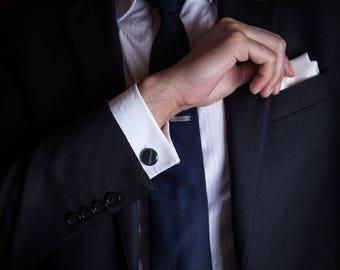 Black & White Marble Cufflinks