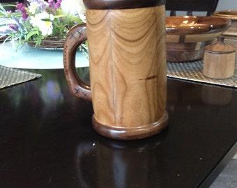Hand crafted wood mug