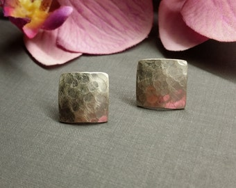 Hammered Silver - earrings 925 Silver
