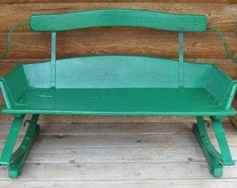 Vintage Buckboard Wagon Seat Bench
