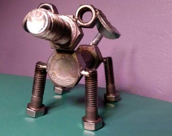 Puppy Nuts and Bolts Figure Sculpture Trinket Decoration