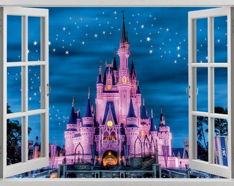Disney Castle wall sticker, decal, self-adhesive vinyl
