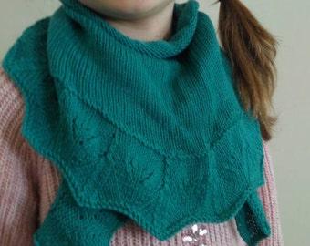 Jade green pure wool scarf