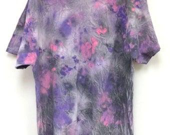 Tie Dye T-Shirt, Gray, Pink, Purple, White, Gildan XL